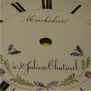 MORBIER DIAL, O/D 260mm, PRINT DIAMETER 220mm - MACHABERT ST JULIEN, FLOWERS